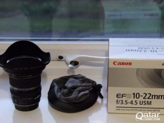 canon 10-22 f3.5/4.5 USM lense