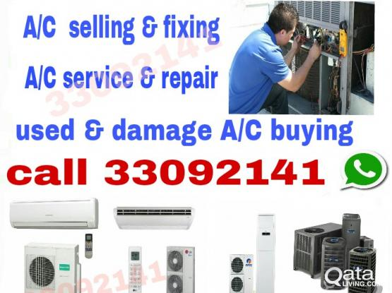 A/C service & repair A/C selling & used & damage A/C buying phone 33092141