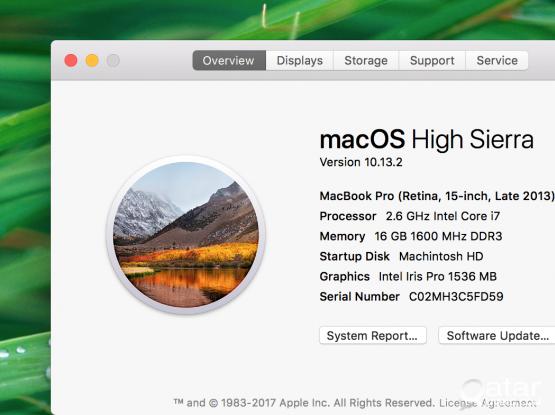 Mac book pro 15inch( late 2013 )