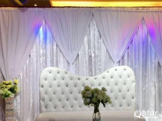 Backdrops Wedding/Birthdays
