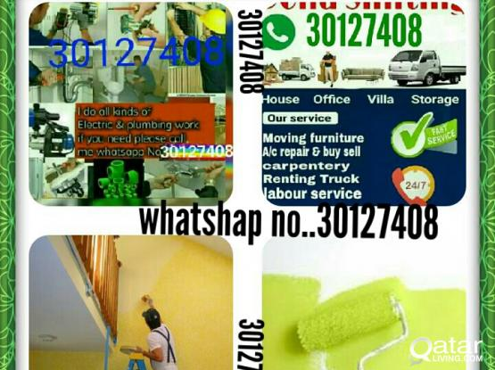 plumbing, Elicteic,AC,Painting,House Shifting.call me sir 30127408