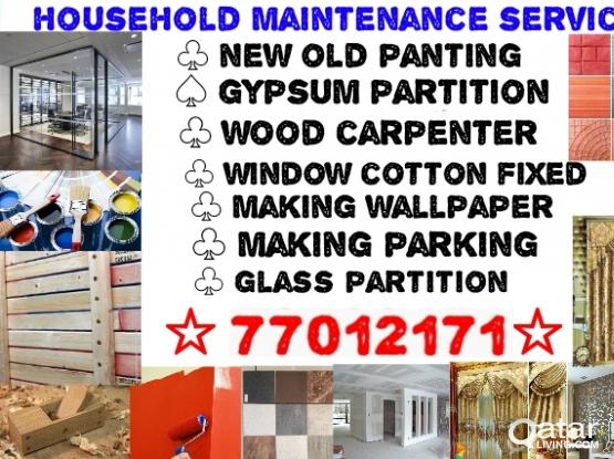 panting gypsum partition window cotton wallpaper faxing and ac services call 77012171