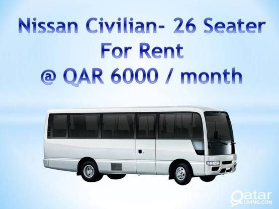 Nissan Civilian- 26 Seater for Rent