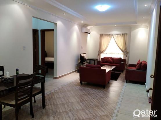 For Rent in Al Sadd behind Lulu  Room, hall, kitchen, bathroom, furnished,