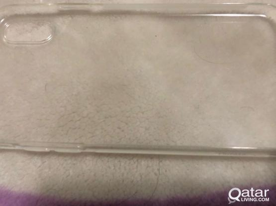 IPhone X transparent back cover