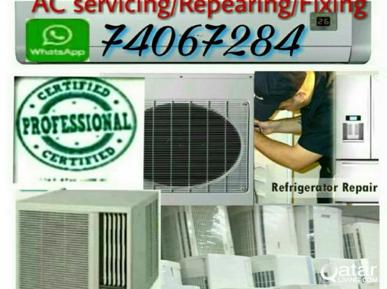 WINDOW & SPLIT AC  FOR REPEARING / SERVICING /GASS FILLING      Call 74067284