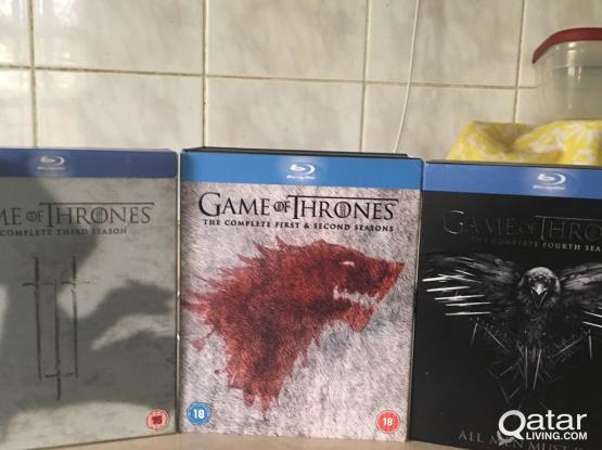 Game of thrones 1 to 4 series blue ray Disc
