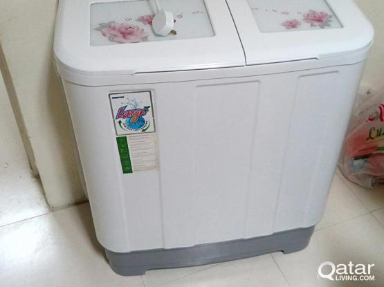 SMALL FRIDGE AND SEMI AUTOMATIC WASHING MACHINE