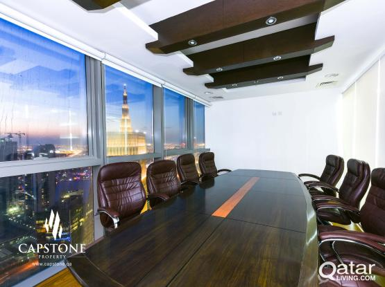 Prime Tower, Fully Furnished Office with Panoramic City View ○