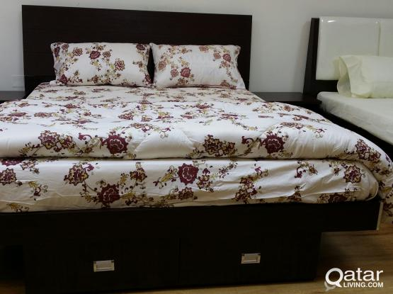 BUY 1 BED ROOM SET 160X200 BRAND NEW GET 2 BED  SIDE TABLE FREE-PH:33280157