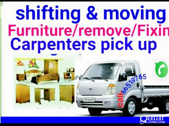 shifting moving .transporting Services .furniture remove and fixing call what'sApp 6651976