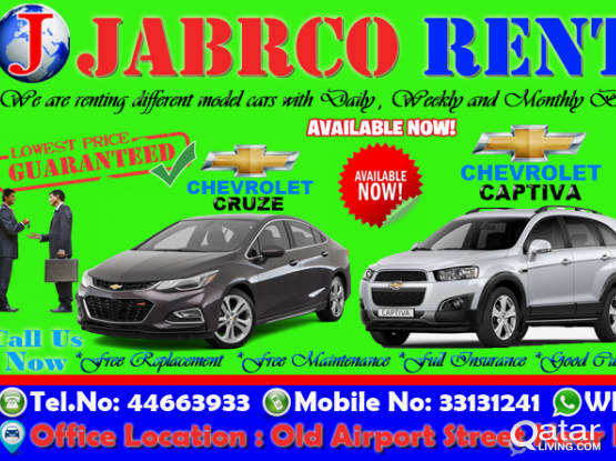 Limited Time Offer Sedan,Suv ,Hatchback  Vehicles Available For Rent !!Call Us Now :33131241/44663933