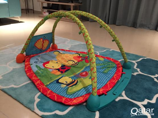 Play mat area with activity table