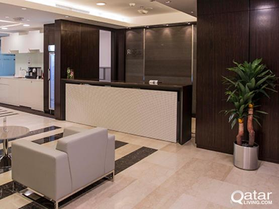 Rent your private office space in Doha, Al Owaina Tower