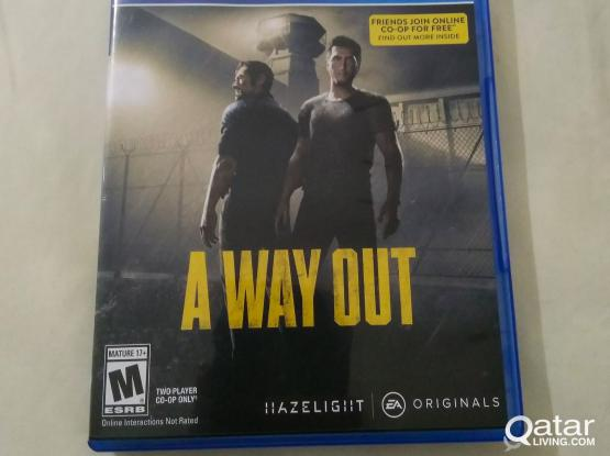 A Way Out for PS4 - NEW