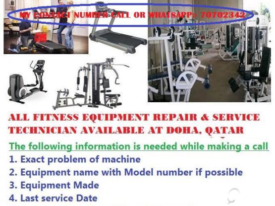 TREADMILL or GYM EQUIPMENT repairing IN DOHA QATAR