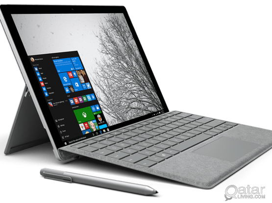 Surface Pro 4 with Type Cover and Touch mouse