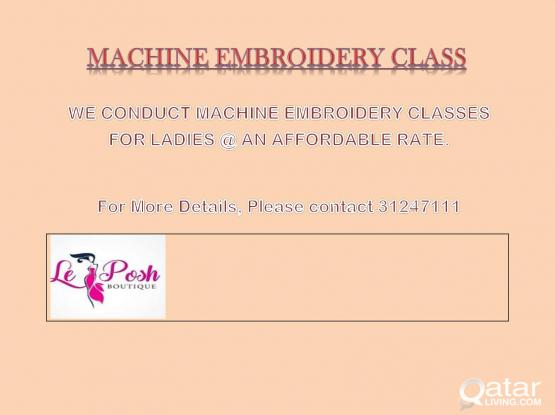 Machine Embroidery Classes for Ladies