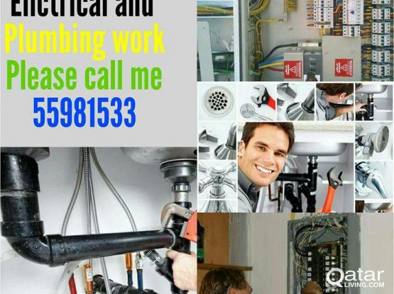 Plumbing,Electric ,painting and all maintenance services.please call +97455981533.