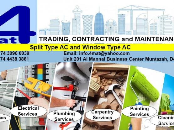 Best Service at Low Price A/C Services, Electrical, Plumbing, Carpentry, Painting 30960039  / 4438 3861