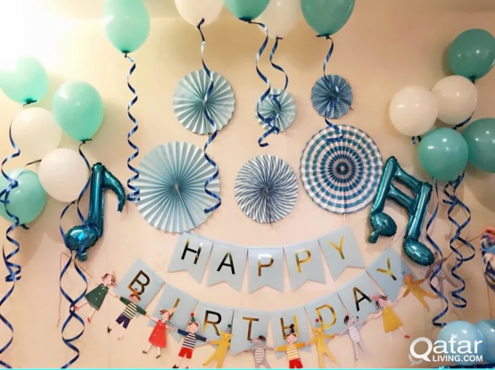 """Party/Foil Balloons- """"Happy Birthday"""" Letters and Other Foil Balloons , Paper Fan Sets - Full sets same as sample pictures"""