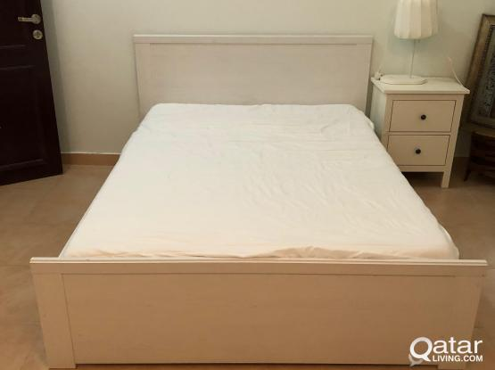 White IKEA MALM bed-frame and mattress   Qatar Living