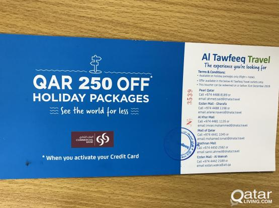 Flight Ticket Holiday Package Discount Voucher