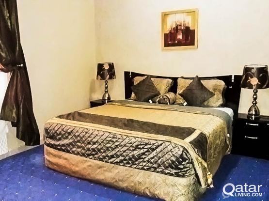 F/F 2-Bedroom Apartment in Al Sadd: Near Hamad Hospital