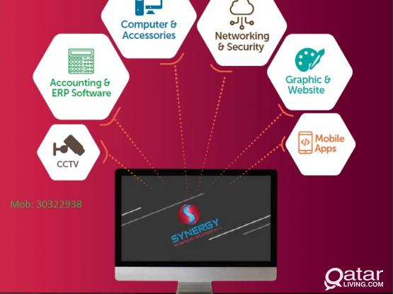 Single Vendor for All Your IT Needs | Software | Networking, Telephones ,PABX | CCTV | Time Attendence|  Website Development|Hardware| Contact: 55034931 / 30322938
