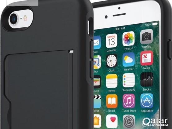 Iphone 7 / 8 Cover with Credit Card Case and Stand.