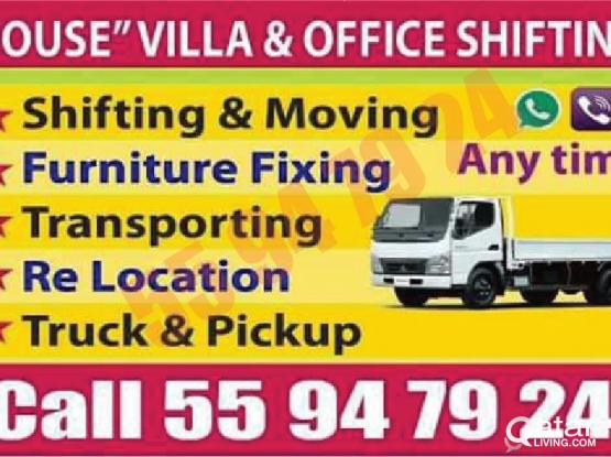 Low price - 55947924 - moving,shifting,packing,carpenter. transportation,truck & pickup,painting & partition. 55 94 79 24