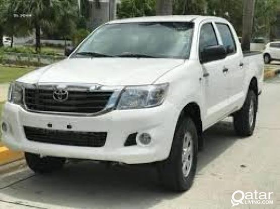 TOYOTA HILUX PICKUP FOR RENT