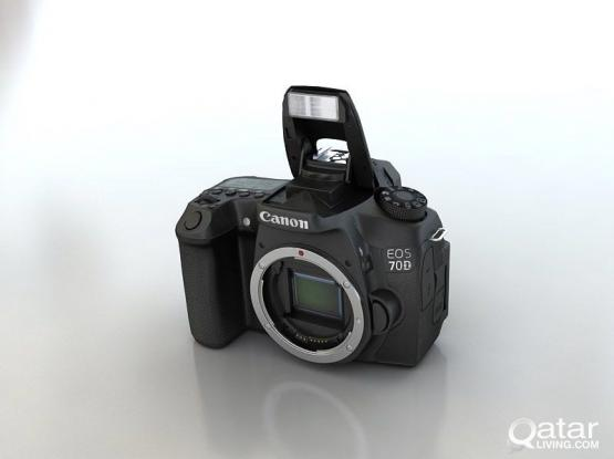 canon 70d cam body only