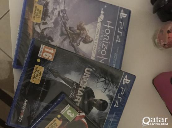 3 new UNUSED PS4 games