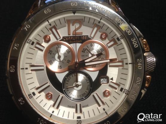 Genuine Cerruti 1881 Diamond Watch for sale (Swiss made).