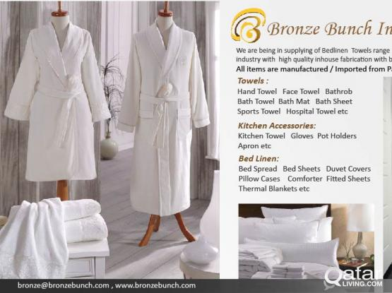 SUPPLYING BED LINEN , TOWEL RANGE HOSPITALITY ACCESSORIES