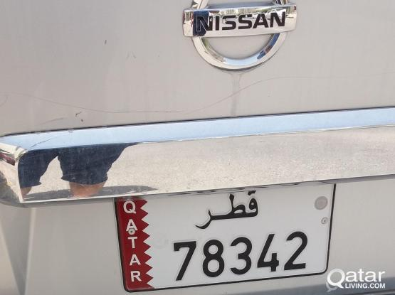 Special plate number 78 34 2