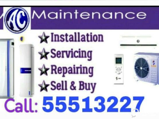 ★A/C Selling and Fixing, Servicing, Repairing, Gass Filling, Cleaning & Removing.    ★ We Buye Used and Damage A/C.   ★We Are Doing Work Whole Qatar. (Service 24 Hours).   ★We Have Up To 5 Years Experience in A/C Section.(call :-55513227)