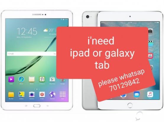 I'm looking to buy ipad/galaxy tab