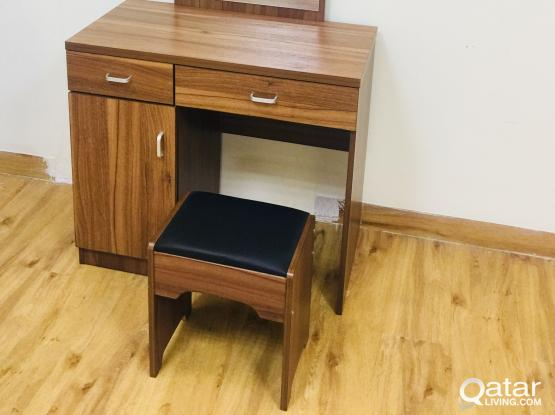 DRESSING TABLE WITH STOOL (BRAND NEW) CONTACT-33280157