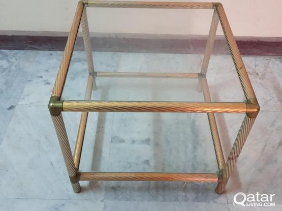 طاوله معدن زجاج Metal and Glass Table