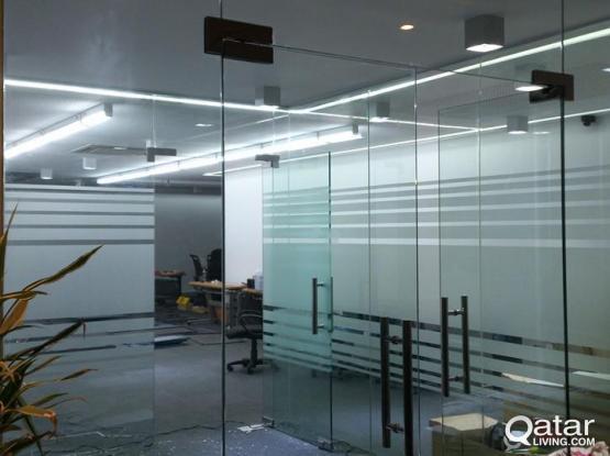Glass Installation , Aluminum Fabrication & Painting | Qatar