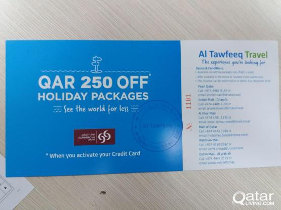 HOLIDAY 250 qR VOUCHERS FROM ALTAWFEEEQ TRAVELS