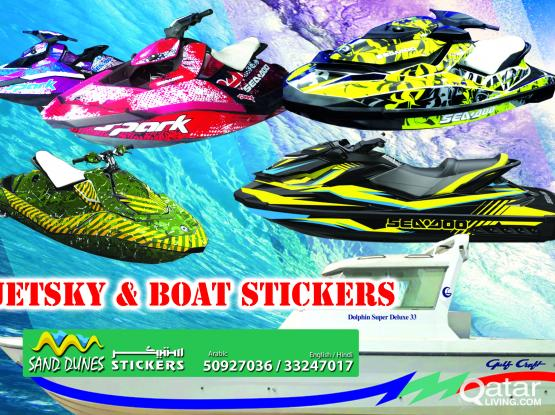 JETSKY & BOAT STICKERS