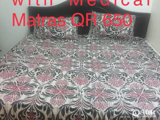Matras King Size : King size bed with medical matras qatar living