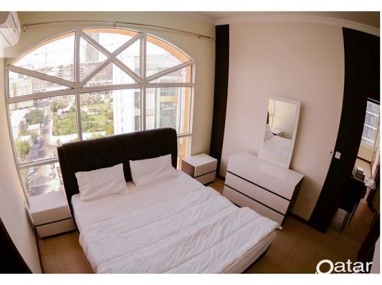 Walking distance to Corniche ! Outstanding 2 BHK Furnished Apartment At Musherib !
