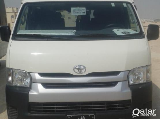 13 SEATER HIACE WITH DRIVER AVAILABLE FOR RENT