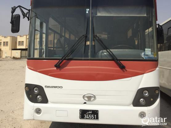 55 SEATER DAEWOO BUS WITH DRIVER FOR RENT