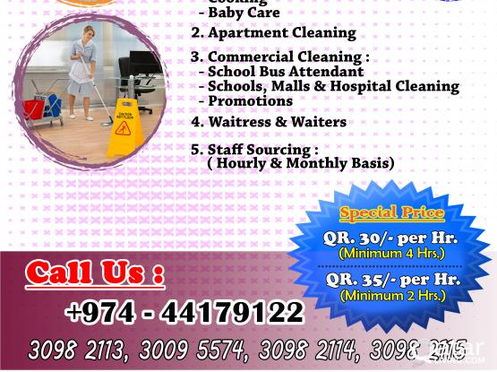Cleaning Services/Baby Sitter,