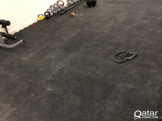 Rubber floor, gym, fitness studio 40sqm